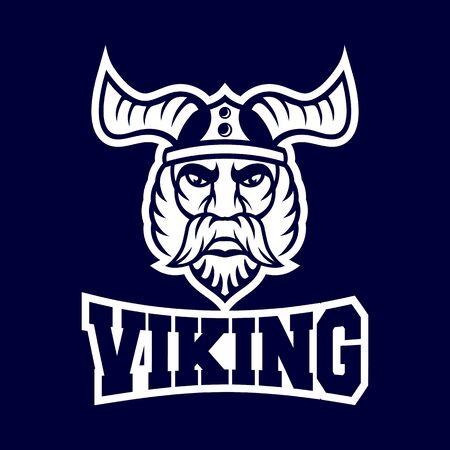 Modern harsh viking conqueror logo