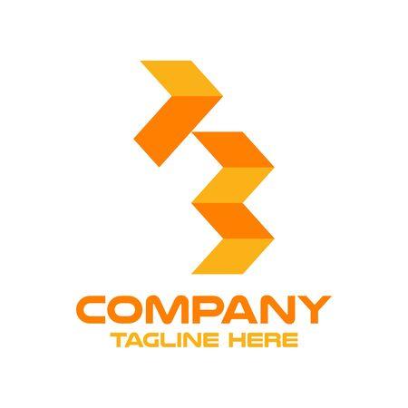 Modern letter F and finance logo. Vector illustration.