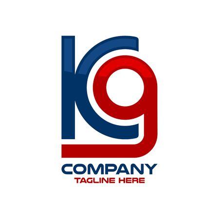 Modern letter K9 and training for dogs logo. Vector illustration.