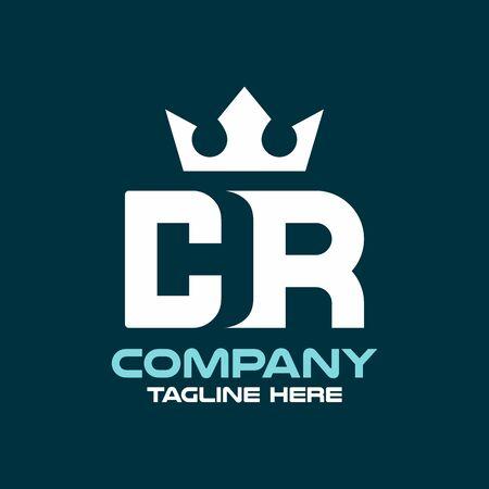 Modern letter CR or RC logo. Vector illustration.