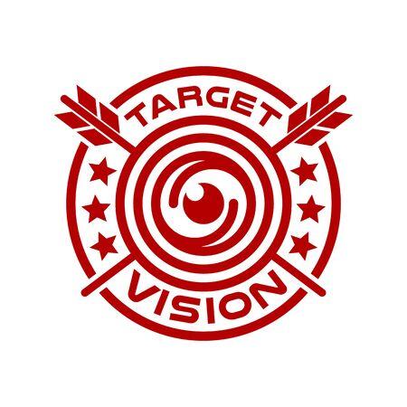Modern vision and logo target. Vector illustration.