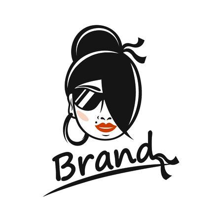Modern beauty and gypsy logo. Vector illustration. Ilustrace