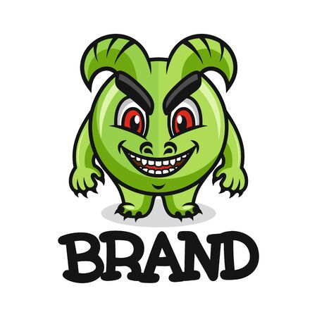 Modern mascot is a monster logo. Vector illustration.