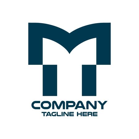 Modern letter TM or MT logo. Vector illustration. Ilustrace