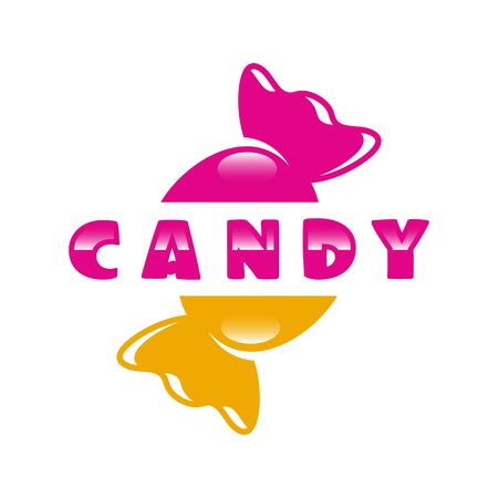 Modern sweets and candy logo. Vector illustration. Ilustrace