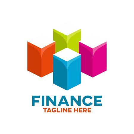 Modern finance and chart. Vector illustration.