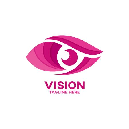 Modern vision and eye Vector illustration.