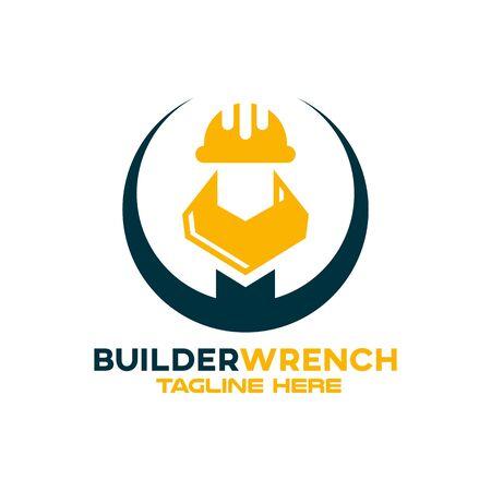 Modern builder wrench. Vector illustration.