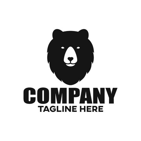 Modern Grizzly bear logo. Vector illustration.