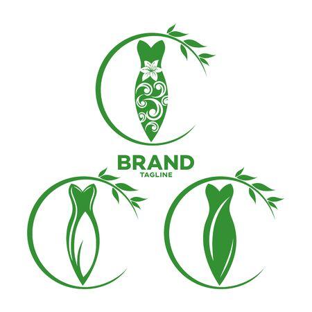 Modern dress and fashion logo.Vector illustration.