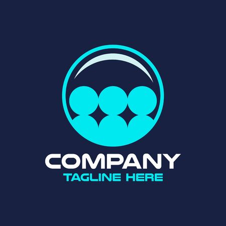 Modern cleaning company and people logo. Vector illustration.