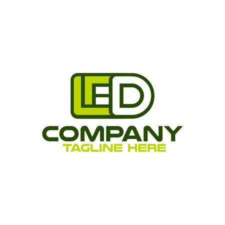 Modern LED logo. Vector illustration.