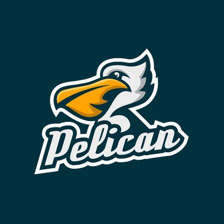 Modern Pelican Mascot  illustration. Illustration