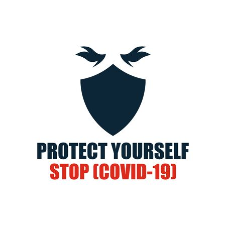 STOP COVID-19 coronavirus. Vector illustration.