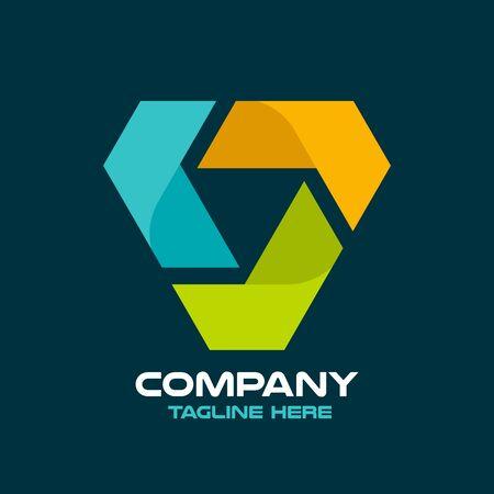 Diamond logistics and letter L logo.Vector illustration.