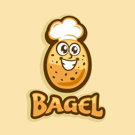 Bagel and Baking logo.Vector illustration. Illustration