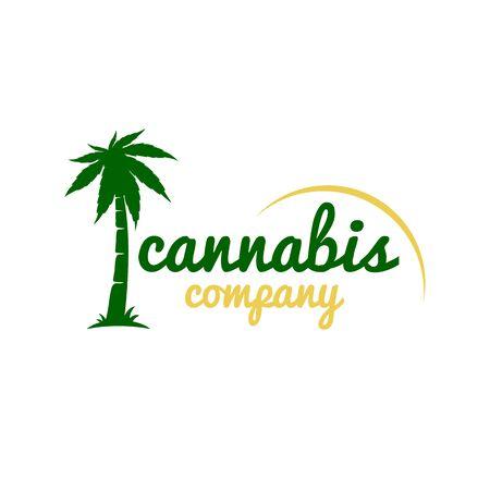 Ð¡annabis palm logo.Vector illustration. Illustration