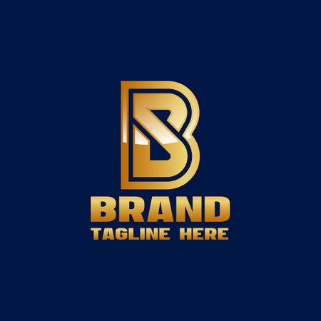 Modern letters SB or BS logo