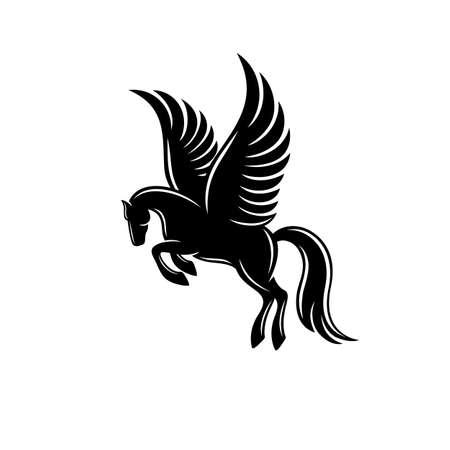 Modern horse pegasus logo. Vector illustration. Logo