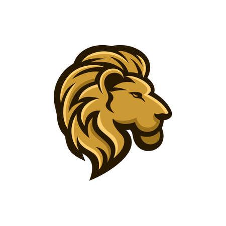 Lion logo design, modern awesome mascot
