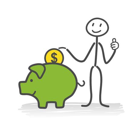 Piggy bank Stock Vector - 29690978