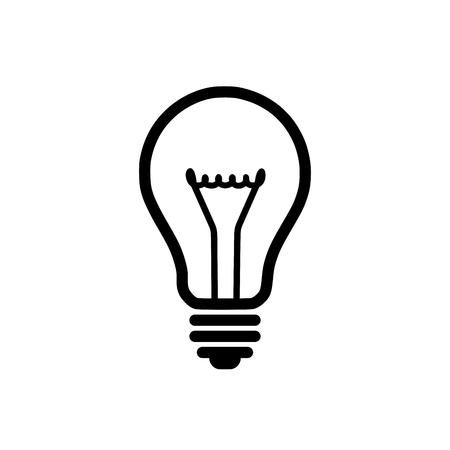 Lampadina icona della luce Archivio Fotografico - 30681420
