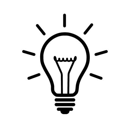 Gloeilamp icoon Stock Illustratie