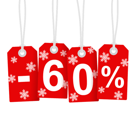 selling off: Illustration of Discount 60 Percent