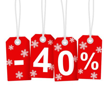 Illustration of Discount 40 Percent Vector