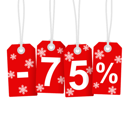 selling off: Illustration of Discount 75 Percent
