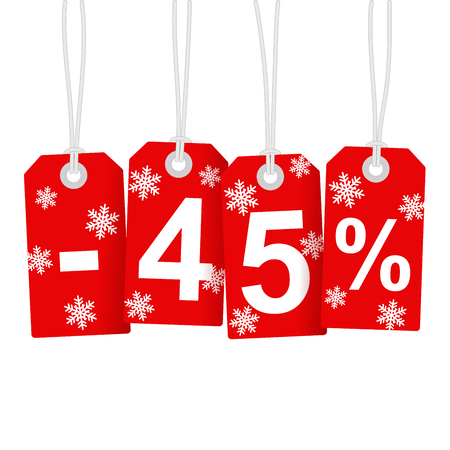Illustration of Discount 45 Percent Vector