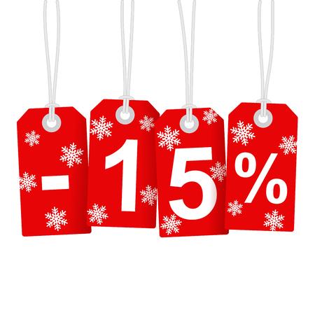 Illustration of Discount 15 Percent Vectores