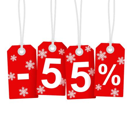 Illustration of Discount 55 Percent Vector