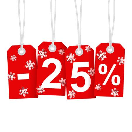 Illustration of Discount 25 Percent