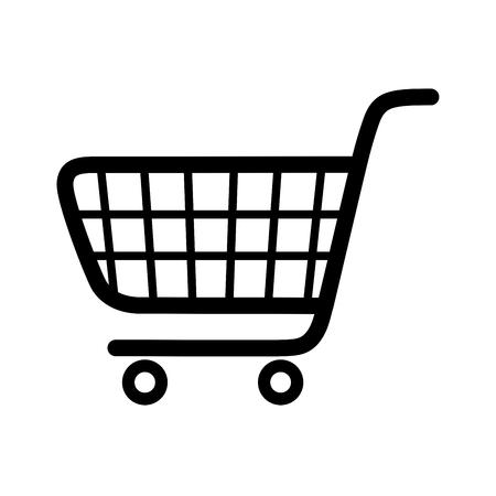 supermarket cart: shopping cart Illustration