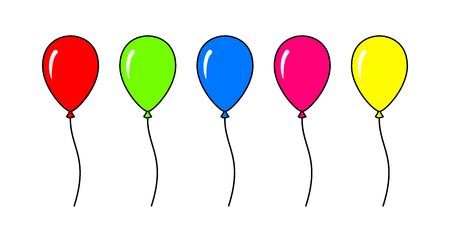 balloons Ilustrace
