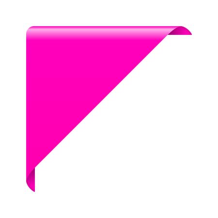 ribbon: corner ribbon Illustration