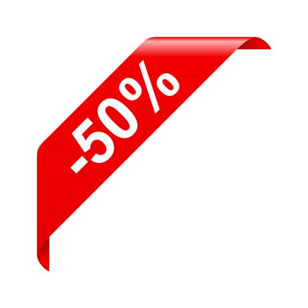 korting van 50 Stock Illustratie
