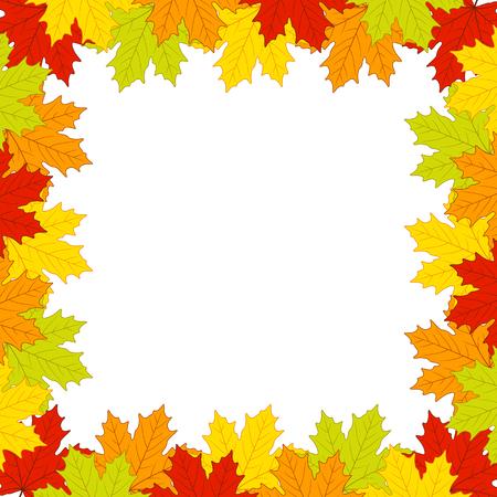 Autumn leaves on white background Illustration