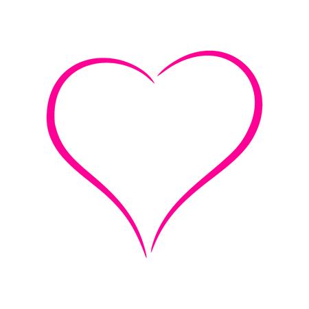 Pink heart Stock Vector - 53053367