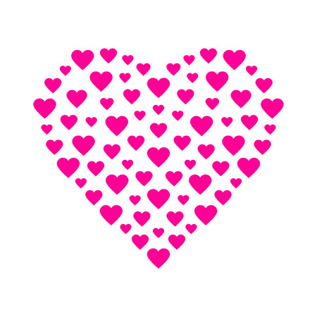 Pink heart Stock Vector - 53053369