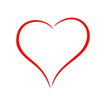 Rotes Herz Vektorgrafik