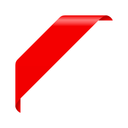 Corner ribbon Ilustrace