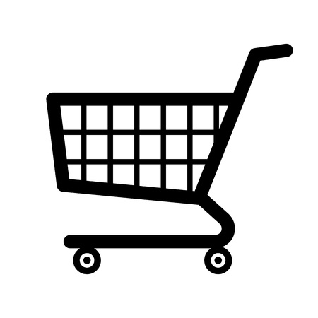 commercial sign: Shopping cart icon