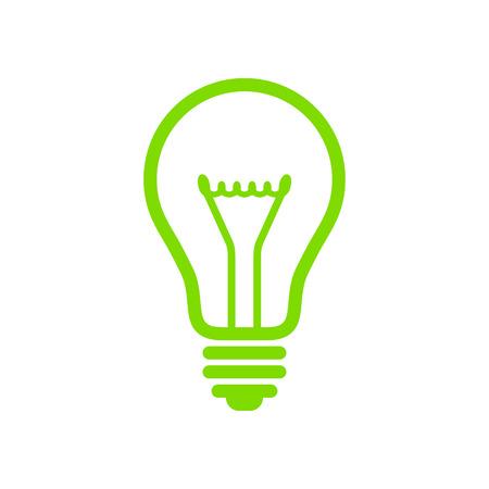 緑の電球  イラスト・ベクター素材