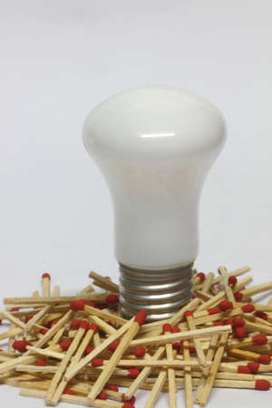 Matches with light bulb Stock Photo - 10028542
