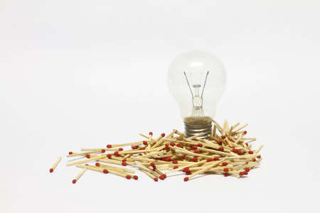 distinctive: Matches with light bulb