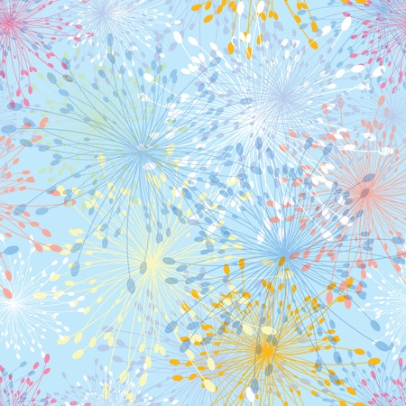 Seamless pattern dandelion flower Abstract vintage  Floral illustration  Иллюстрация