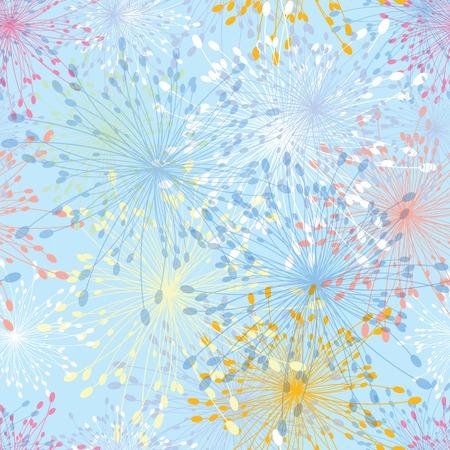 xmas floral: Seamless pattern dandelion flower Abstract vintage  Floral illustration  Illustration