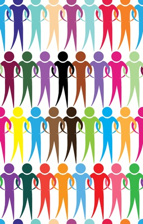 Business team, people icon web  Vector diagram, network communication  Partnership, employee  Relation concept wallpaper  Crowd seamless background  Vector